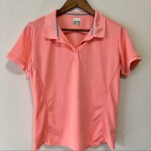 Columbia Polo Sportswear Tee Peach Pink